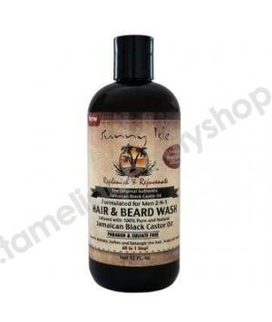 Lavage 2 en 1 pour Cheveux et Barbe Homme à base d'huile de Ricin Noir de Jamaique