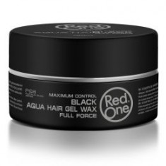 Red One Maximum Control Aqua Hair Gel Wax Black