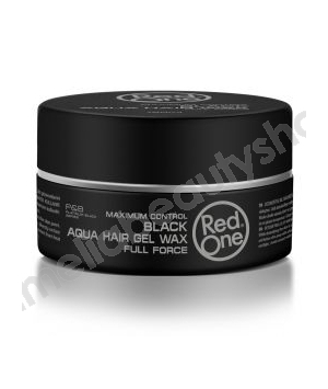 Red One Maximum Control Aqua Hair Gel Wax Black