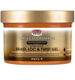 Black castor Miracle Gel Extra Hold Braid, Locks, & Twist African Pride