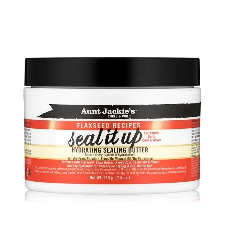 Aunt Jackie's Curls & Coils Flaxseed Recipes Seal It Up Hydrating Sealing Butter