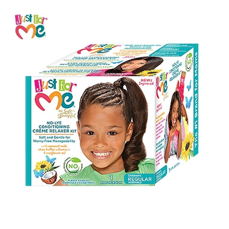 Just For Me No Lye Conditioning Crème Relaxer Kit children's normale