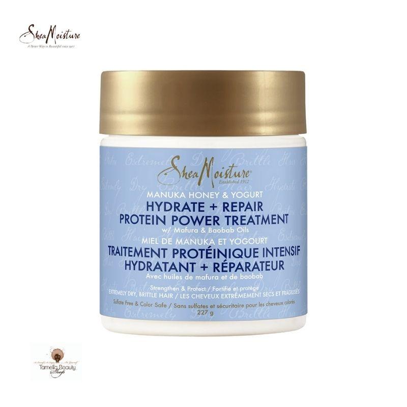 SheaMoisture Manuka Honey & Yogurt Hydrate + Repair Traitement Protéinique Intensif Hydratant + Réparateur