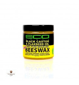 Eco Black Castor Oil & Flaxseed Oil 100 % Pure Brazilian Beeswax