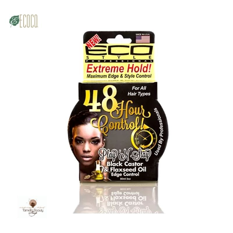 Eco Style Play 'n' Stay Edge Control Black Castor Oil & Flaxseed Oil